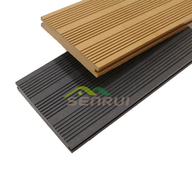 Solid decking board